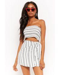 Forever 21 - Striped Tube Top & Mini Skirt Set - Lyst