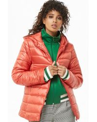 Forever 21 - Hooded Puffer Jacket - Lyst