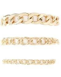 Forever 21 - Curb Chain Bracelet Set - Lyst