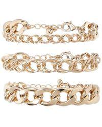 FOREVER21 - Curb Chain Bracelet Set - Lyst
