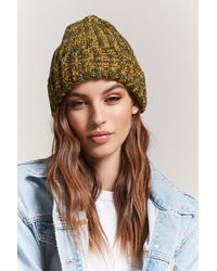 Forever 21 - Marled Ribbed Knit Beanie - Lyst