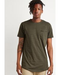 Forever 21 - T-shirt a righe lunga - Lyst