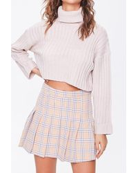 Forever 21 Ribbed Turtleneck Sweater - Pink
