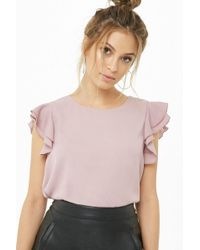 Forever 21 - Tiered Ruffle-sleeve Top - Lyst