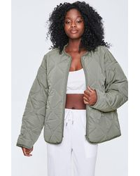 Forever 21 Quilted Puffer Jacket - Multicolor