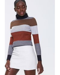 Forever 21 Faux Leather Mini Skirt - Multicolor