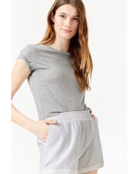 Forever 21 - Cuffed High-rise Shorts - Lyst