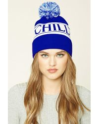 Forever 21 - Chill Graphic Pom-pom Beanie Hat - Lyst