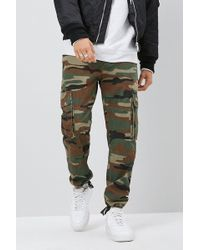 Forever 21 - Camo Cargo Jogger Jeans - Lyst