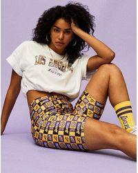 Forever 21 Los Angeles Lakers Biker Shorts - Multicolour
