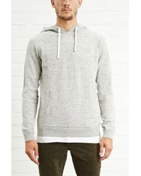Forever 21 - Heathered Sweater Hoodie - Lyst
