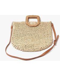 Forever 21 Basket-woven Tote Bag - Natural