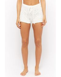 Forever 21 - Chenille Cable Knit Shorts - Lyst