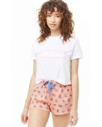 Forever 21 - More Snacks Graphic Top & Shorts Pj Set - Lyst