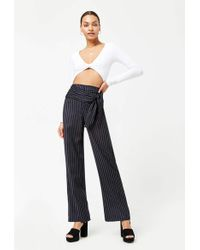 Forever 21 - Pinstripe Self-tie Trousers - Lyst