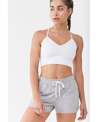 Forever 21 Low Impact - Crisscross Sports Bra - White