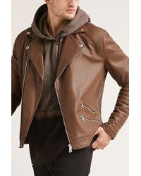 Forever 21 - 's Rib-sleeve Moto Jacket - Lyst