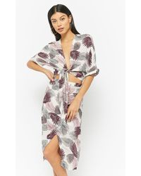 Forever 21 - Feather Print Tie-front Top & Skirt Set - Lyst