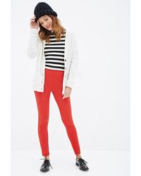 Forever 21 Zippered Ponte Knit Pants