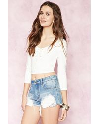 Forever 21 | Lace-up Crop Top | Lyst