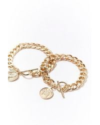 Forever 21 - Chunky Chain Bracelet Set - Lyst