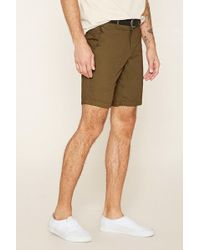 Forever 21 - Woven Chino Shorts - Lyst