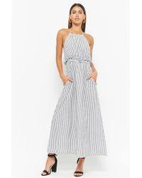Forever 21 - Pinstriped Halter Dress - Lyst