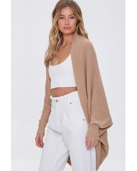 Forever 21 Ribbed Open-front Cardigan Sweater - Multicolour