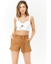 Forever 21 - Women's Cuffed Cotton Shorts - Lyst
