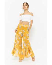 Forever 21 - Floral Print Chiffon Trousers - Lyst