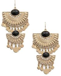 Forever 21 - Tiered Ornate Drop Earrings - Lyst