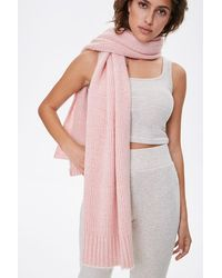 Forever 21 Brushed Knit Oblong Scarf In Blush - Pink