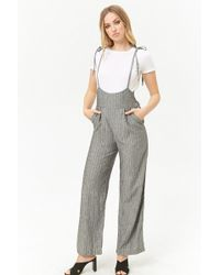 Forever 21 - Women's Pinstriped Suspender Trousers - Lyst