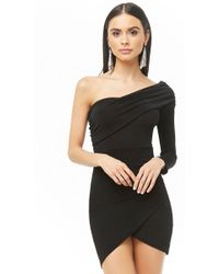 Forever 21 - One Shoulder Tulip Dress - Lyst