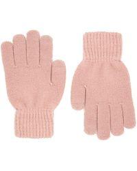 Forever 21 Ribbed Trim Knit Gloves , Blush - Pink