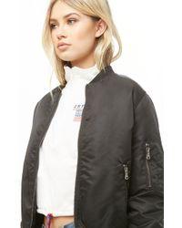 99e10eaed Women's Contrast Trim Bomber Jacket - Black