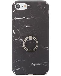 Forever 21 Marble Case For Iphone 7/8 , Black/multi