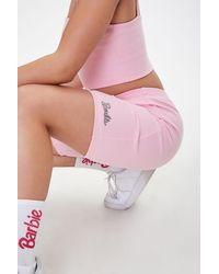 Forever 21 Barbietm Graphic Biker Shorts - Pink