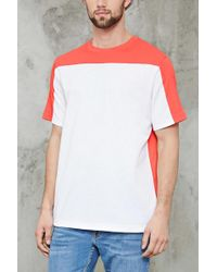 Forever 21 - Cotton-blend Colorblock Tee - Lyst