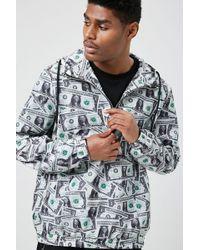 Forever 21 - 's Dollar Bill Print Anorak Jacket - Lyst