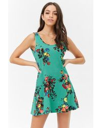 Forever 21 - Mini Floral Dress - Lyst
