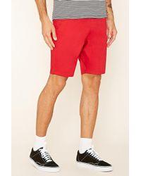 Forever 21 - Cotton-blend Drawstring Shorts - Lyst
