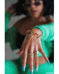 Forever 21 Juicy Couture Heart Bracelet - Metallic