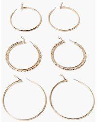 Forever 21 Hoop Earring Set - Metallic