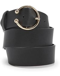 Forever 21 - Faux Leather Half-circle Buckle Belt - Lyst