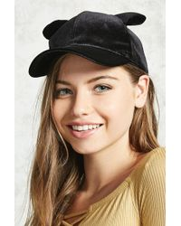 14aae4cd94324 Forever 21 - Velvet Cat Ear Baseball Cap - Lyst