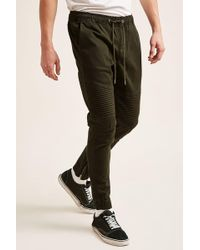 Forever 21 - Zippered Moto Joggers - Lyst