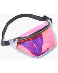 Forever 21 Iridescent Transparent Fanny Pack - Multicolor