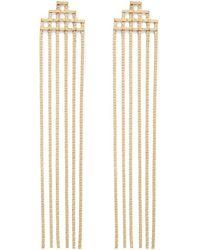 Forever 21 Chain Duster Earrings , Gold - Metallic