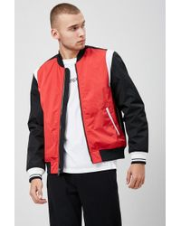 Forever 21 - Colorblock Bomber Jacket - Lyst